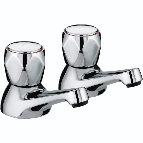 Club Bath Taps With Metal Heads Chrome Plated