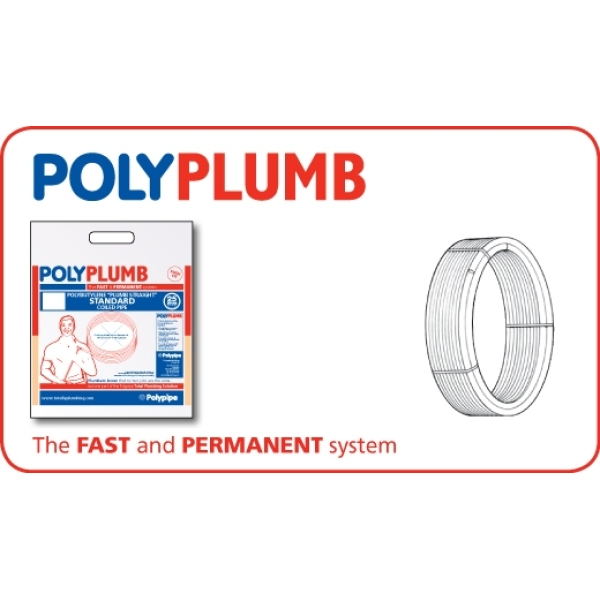 Polyplumb Coil Pipe 15mm x 50m