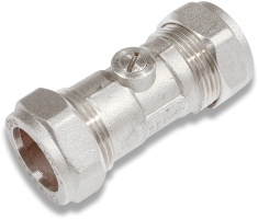 Comap 15mm Isolating Valve Chrome Plated
