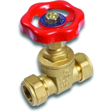 Comap Brass Compression Gate Valve CxC 15mm