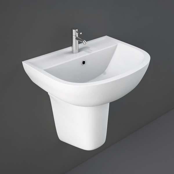 Compact Basin 45cm 2Tap Hole