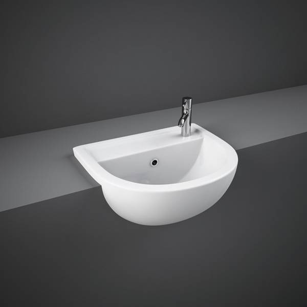 Compact Semi Recessed Basin 40cm 1Tap Hole RH