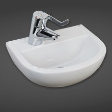 Compact Special Need Basin 38cm 1Tap Hole LH
