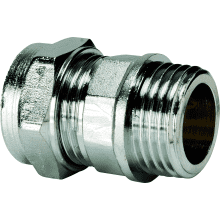 Compression Coupler CxMI 15x1/2 Chrome Plated