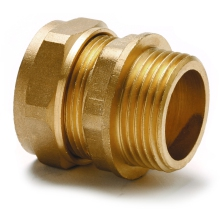 Compression Fitting Male Parallel Thread 10mm 1/4inch