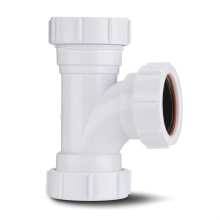 Compression Waste Equal Tee White 40mm