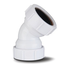 Compression Waste Obtuse Bend White 40mm