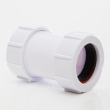Compression Waste Straight Connector White 32mm