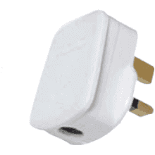 Contactum 13A White Fitted Plug