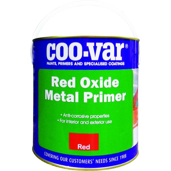 Coo Var 2 5ltr Red Oxide Metal Primer