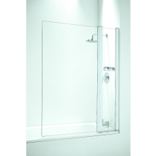 Coram Framless Square Bathscreen and Panel 1050mm Plain Glass/White