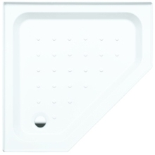 Coram Pentagon Shower Tray 900mmx 900mm White