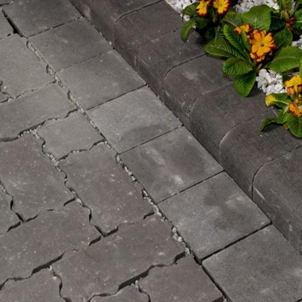 Corner Drivestyle Kerb Bullnose Charcoal