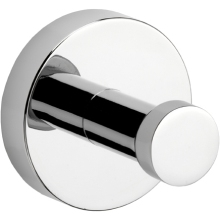 Croydex 52 x 68 x 57mm Epsom Single Robe Hook Chrome