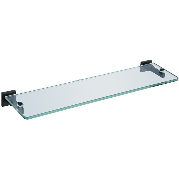 Cubis Glass Shelf Black