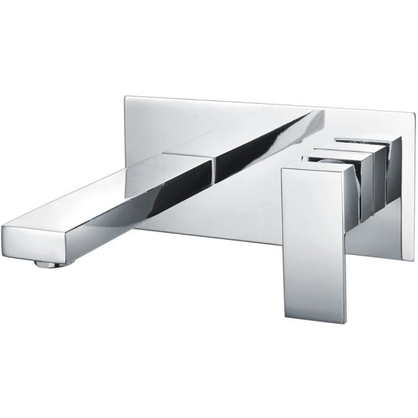Cubis Wall Mounted Basin Mixer with Back Plate