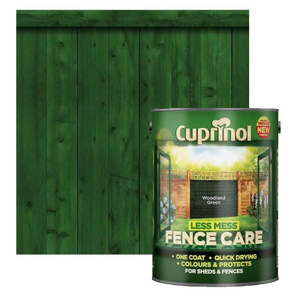 Cuprinol Less Mess Fence Care Woodland Green 5l