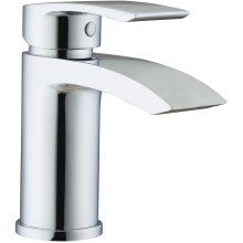 Curve Mini Mono Basin Mixer & Clicker Waste