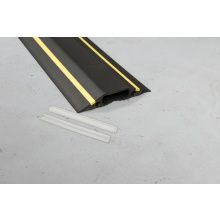 D-Line FC83H/9M 1 Metre Length Black/Yellow Medium Duty Cable Cover 30x10mm - 83mm Wide