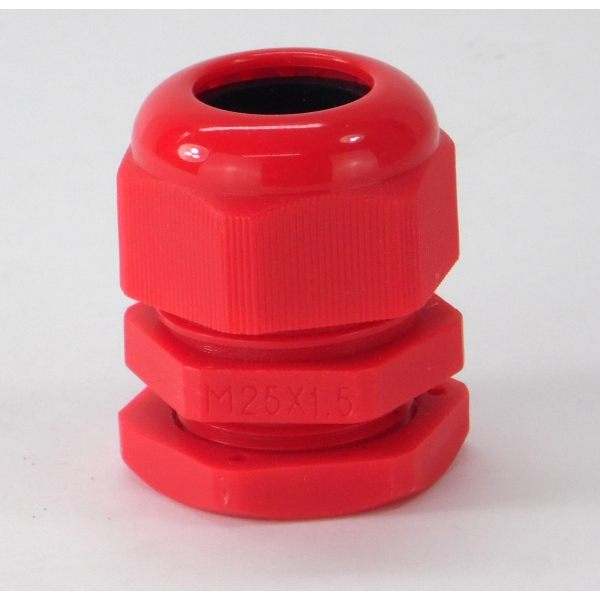 Dome Nylon Glands M25DR 25mm Red Cable Gland 13-18mm Diameter