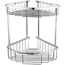 Double Corner Basket Round Chrome