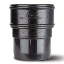 Downpipe Socket Black 68mm