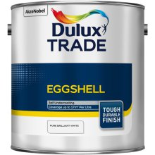 Dulux Trade Eggshell Pure Brilliant White 2.5ltr