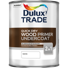 Dulux Trade Q/Dry Wood Primer Undercoat White 1ltr