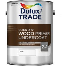 Dulux Trade Q/Dry Wood Primer Undercoat White 5ltr