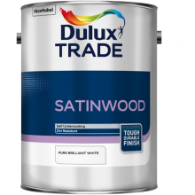 Dulux Trade Satinwood Pure Brilliant White 5ltr