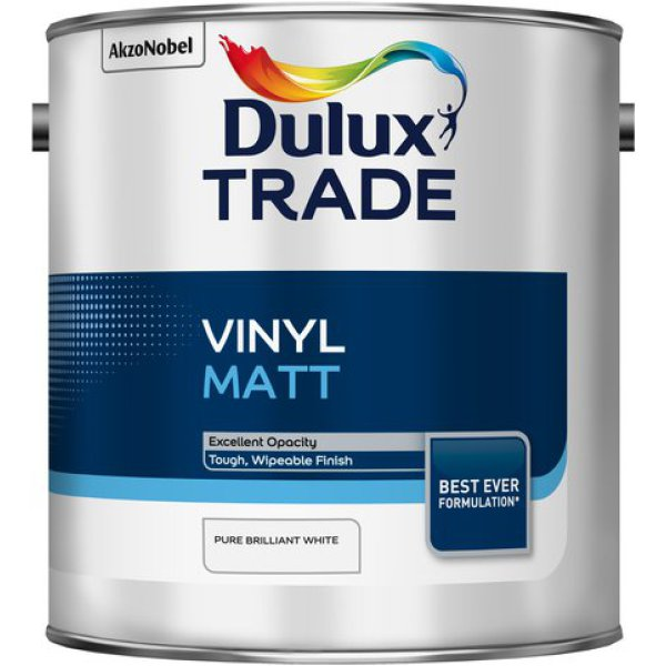 Dulux Trade Vinyl Matt Pure Brilliant White (2011) 2.5ltr