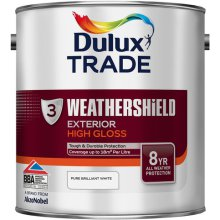 Dulux Trade W/S Ext.Gloss Brilliant White 2.5ltr