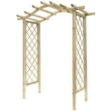 Elite Portico Wooden Garden Arch 2440x2100x1125mm