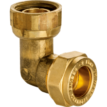End Feed Bent Tap Connector Female 15mm 1/2inch