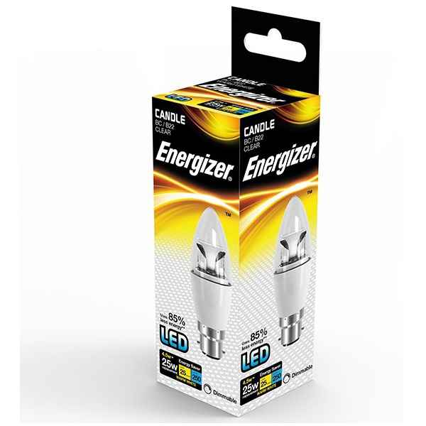 Energizer Candle LED Lamps Dimmable BC Cap S8111 4.6W