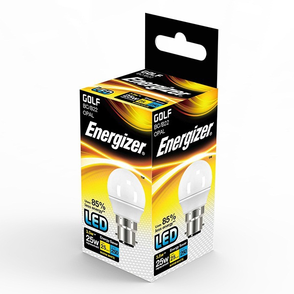 Energizer Golfball LED Lamp S8101 BC Cap 3.5W