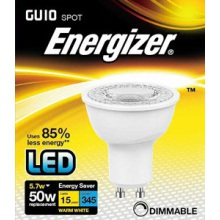 Energizer S8826 5W Dimmable GU10 LED Warm White