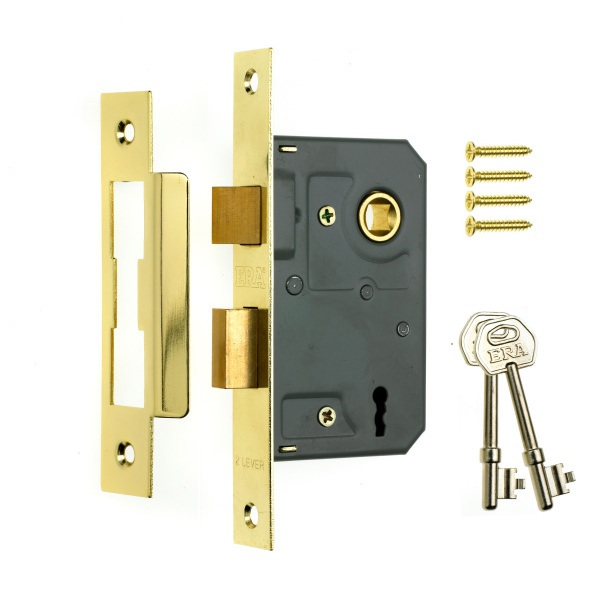 ERA 3L Mortice Sashlock Brass 3in