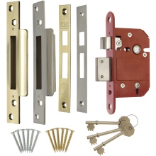 ERA Fortress BS 5L Sashlock Brass/Chrome