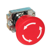 Europa CES10 EM STOP HEAD RED TWIST REL 40mm CP