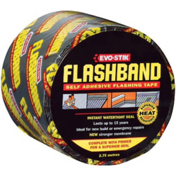 Evo-Stik 3.75mtr Flashband Grey With Primer 100mm
