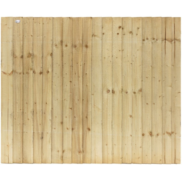 Featheredge Standard Fence Panel Green 0.9m