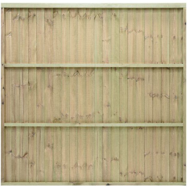 Featheredge Standard Fence Panel Brown 0.9m