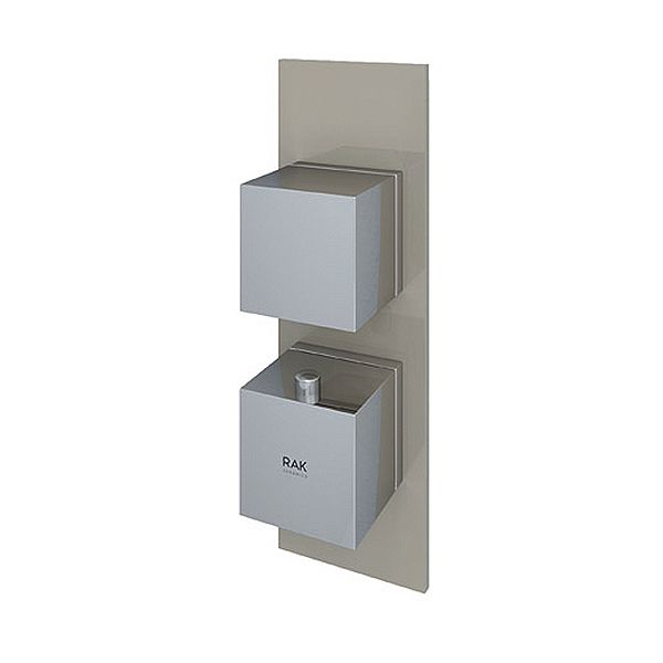 Feeling Square Single Outlet Therm Concealed Shower Valve Cap