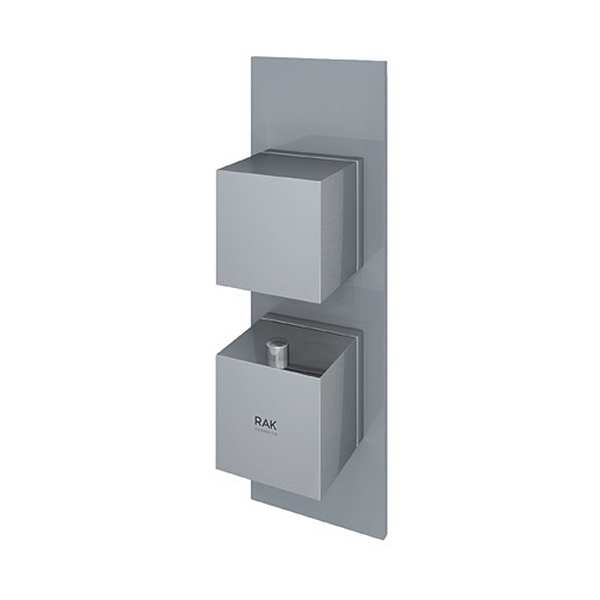 Feeling Square Single Outlet Therm Concealed Shower Valve Grey