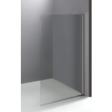 Flat Shower Screen (5mm) 1400x800mm Polished Silver