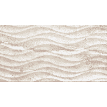 Flavia Crema Olas Wave Smooth Wall Tile 600 x 316 x 10.5mm