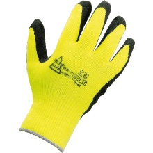 Fleece Lined Hi-Vis Rubber Palm Winter Glove