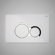 Flush Plate White and Round Push Plates CP