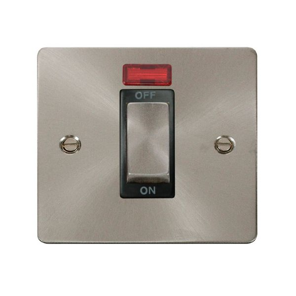 Click FPBS501BK Ingot 1 Gang 45A DP Switch With Neon